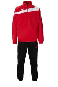 hummel Senior  trainingspak, Rood/zwart/wit, Heren