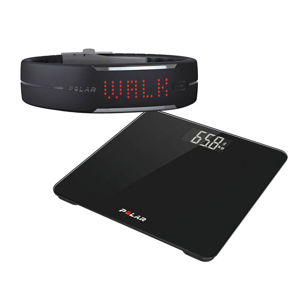 Polar balance scale + activiteitstracker Loop 1, Zwart