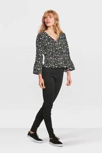 WE Fashion Blue Ridge high waisted skinny fit jeans, Zwart