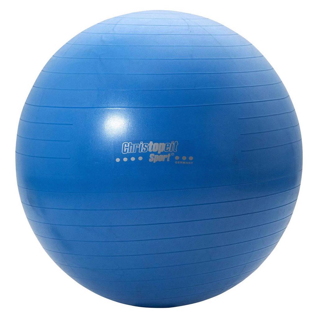 Christopeit gym bal 75 cm, Blauw
