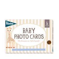 Milestone Baby photo cards Sophie la girafe, Wit