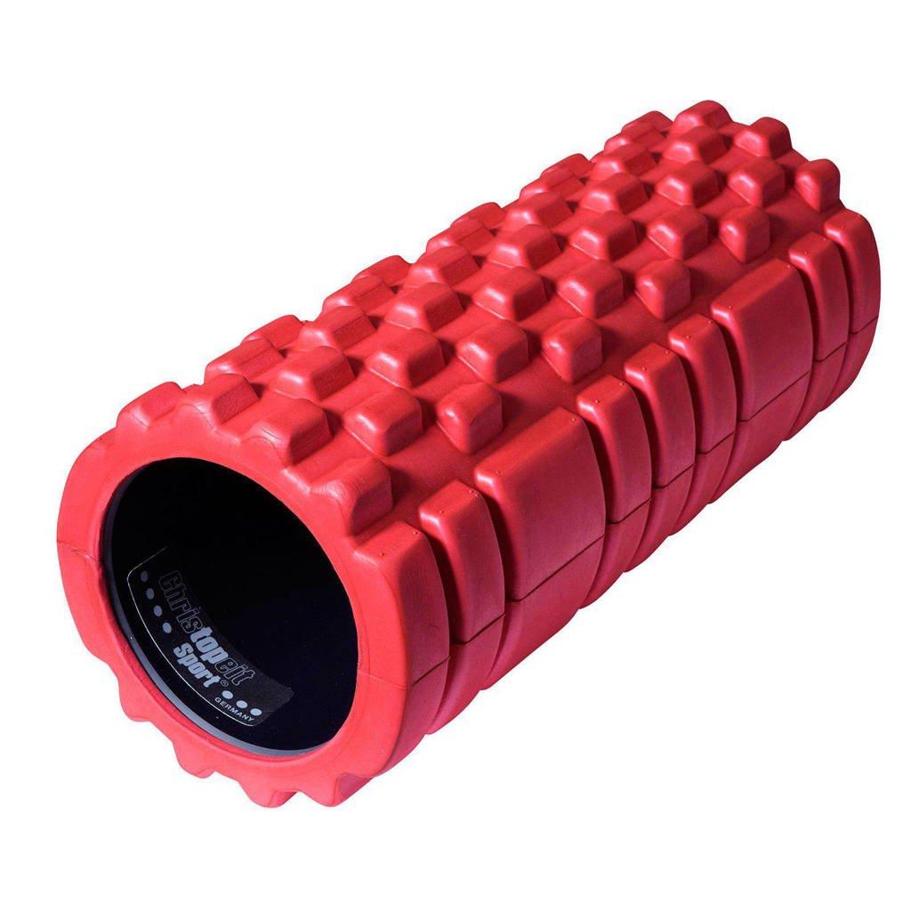 Christopeit foam roller, oranje-rood