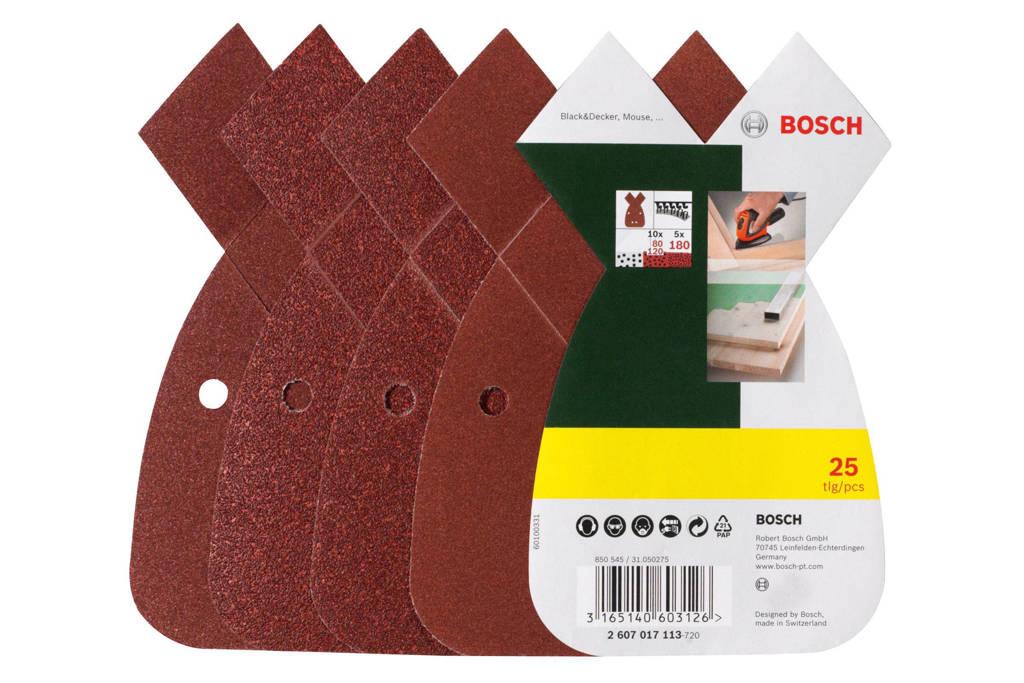 Bosch  25-delige schuurbladenset voor B+D Mouse