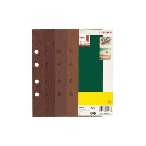 Bosch 25-delige schuurpapierset voor vlakschuurmachine kopen