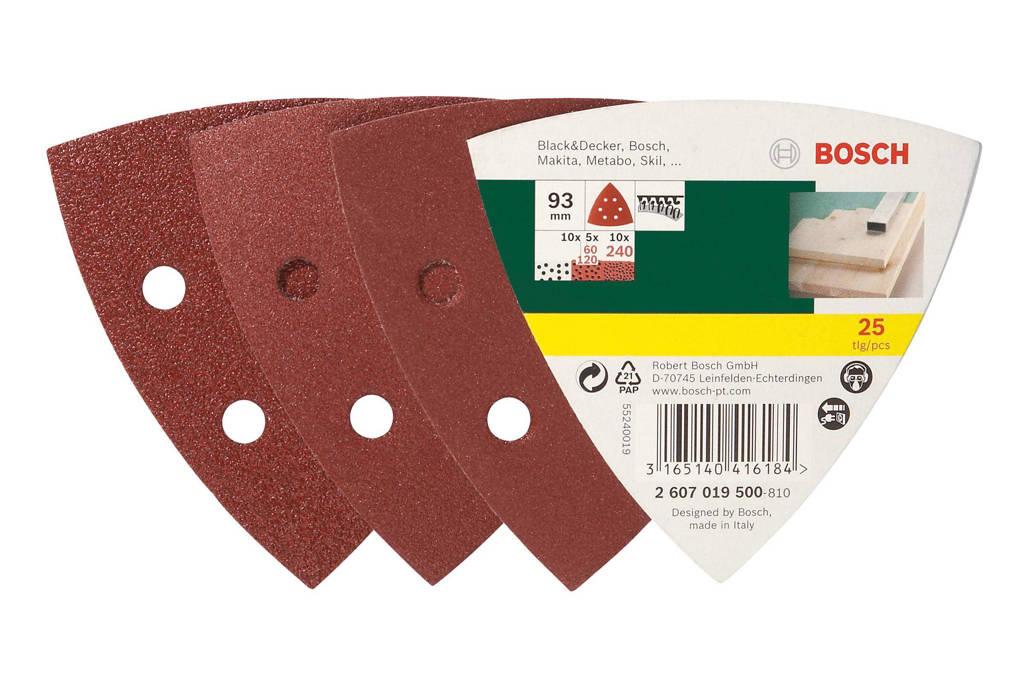 Bosch  25-delige schuurpapierset voor deltaschuurmachine