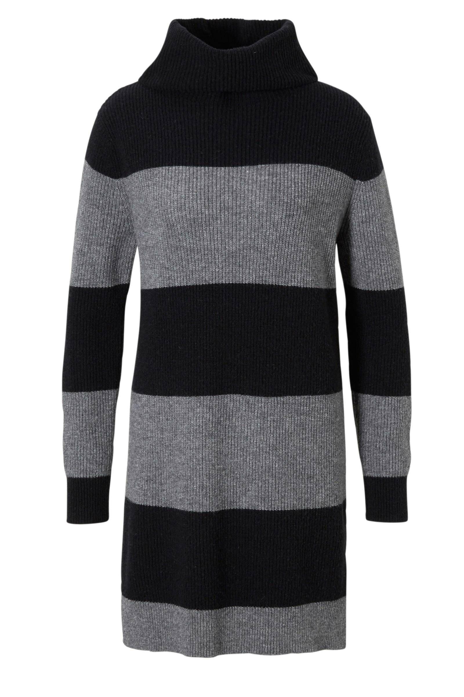 sweater jurk zwart
