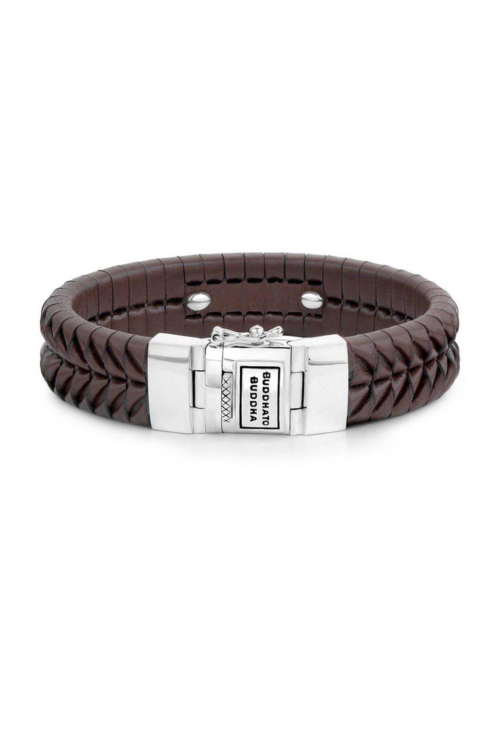 Buddha To Buddha Komang leren armband, Bruin