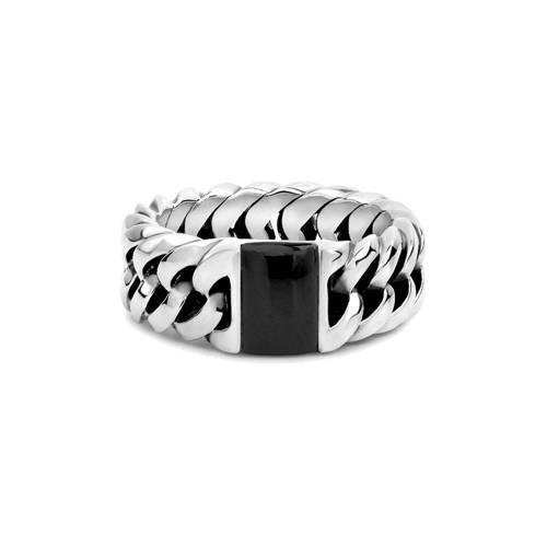 Buddha To Buddha Chain Stone zilveren ring