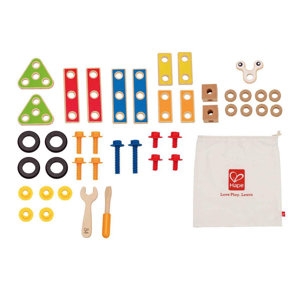Hape houten bouwspeelgoed basis set 42-delig