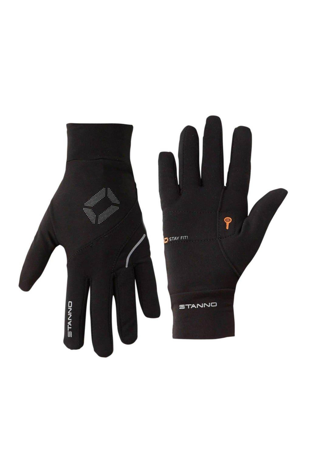 Stanno   hardloop handschoenen, Zwart