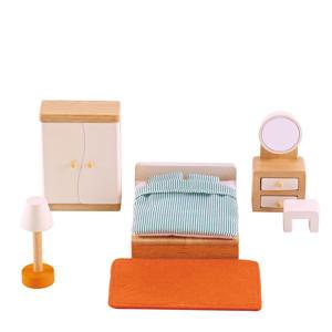 houten poppenhuis slaapkamer