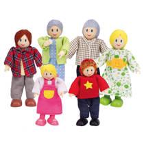 Hape houten poppenhuis poppetjes