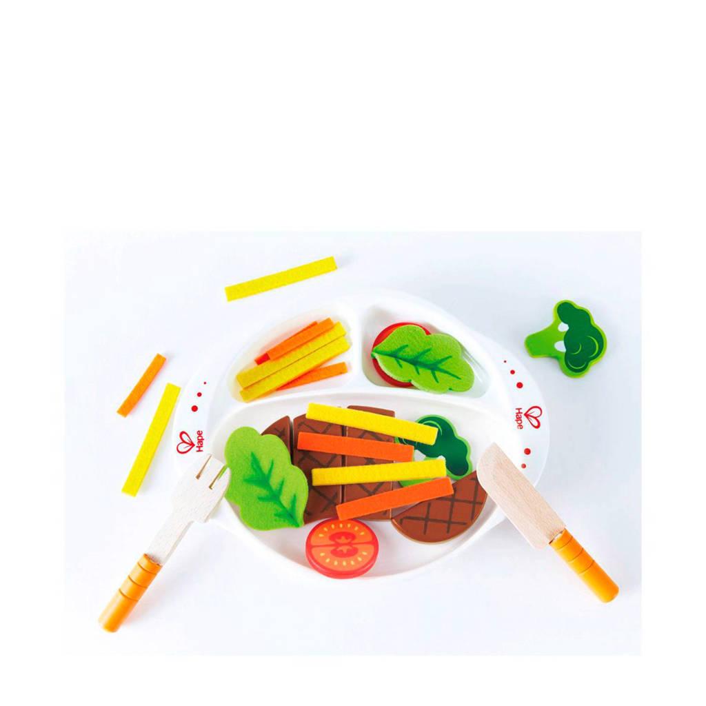 Hape houten speelgoed warme maaltijd