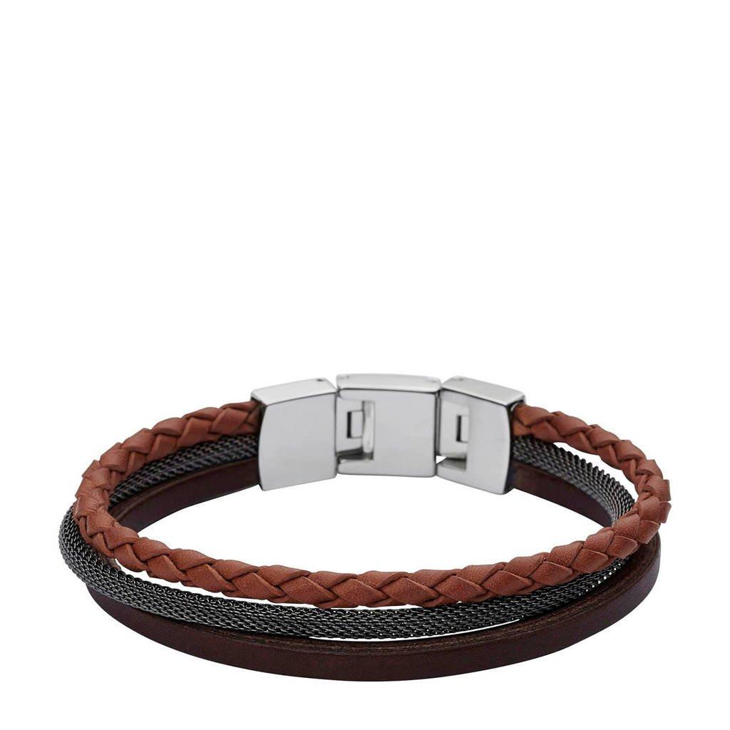 Fossil armband, Bruin/zwart