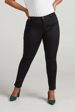 high waist extra slim fit jeans Nille zwart