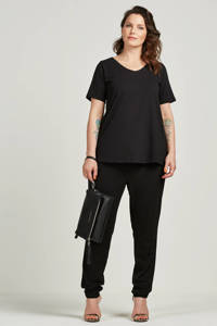Zizzi basic T-shirt, Zwart