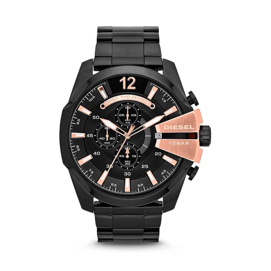 Diesel horloge Mega Chief DZ4309 zwart, Zwart