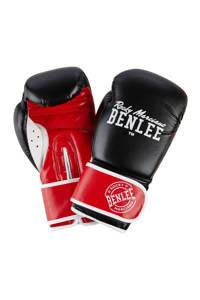 Benlee bokshandschoenen Carlos 14 oz, Zwart/rood