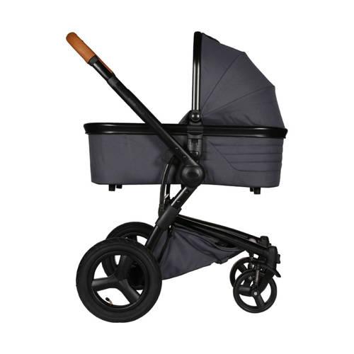 Kidsriver multi inzetbare Daya kinderwagen - Zwart/Cognac + Antraciet kopen
