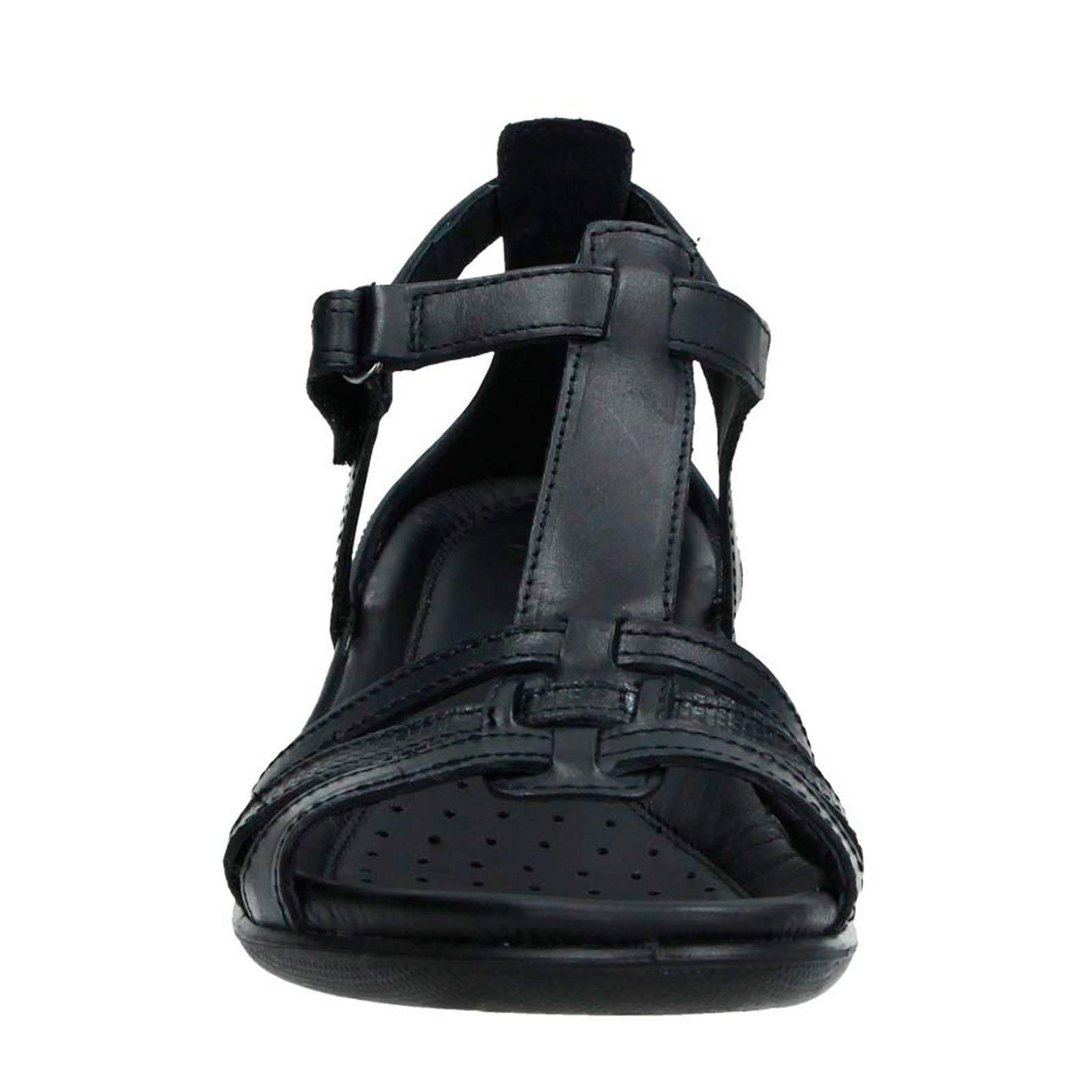 Ecco Flash leren sandalen | wehkamp