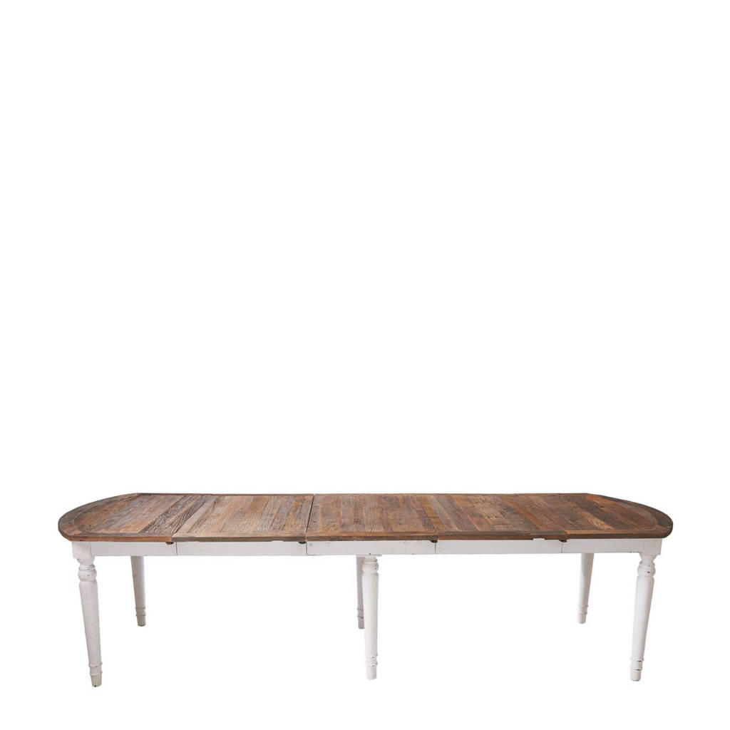 Eettafel Uitschuifbaar Wit.Uitschuifbare Eettafel Springfield Woods 126 Cm 360 Cm