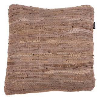 Mood collection kussenhoes gevlochten leer (45x45 cm)