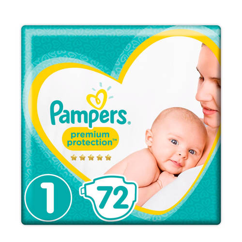 Pampers Premium Protection maat 1 (2-5 kg) 72 luiers kopen