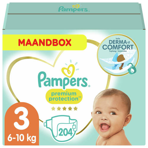 Pampers Maandbox Maat 3 (Midi) 5-9 kg 204 luiers
