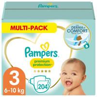 Pampers Premium Protection maandbox maat 3 (6-10 kg) 204 luiers