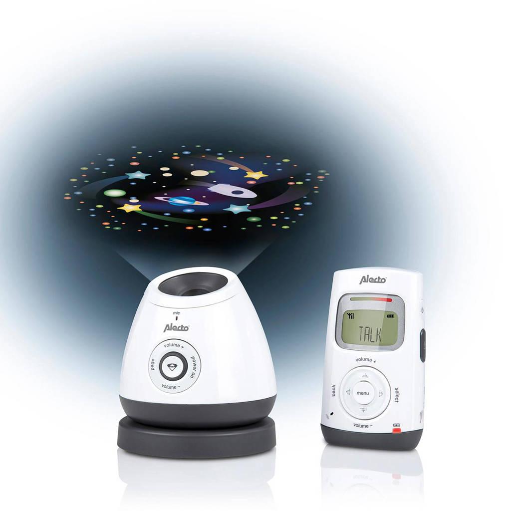 Alecto DBX-111 DECT babyfoon met projector, Wit/antraciet
