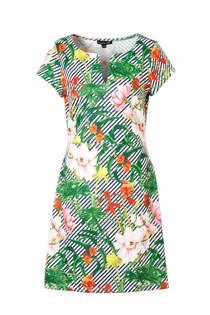 Smashed Lemon strepen jurk met bloemen