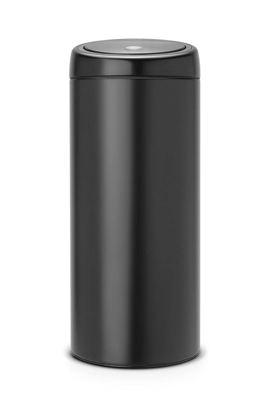 Brabantia Touch Bin 30 L Mat Zwart.Brabantia Touch Bin 30 Liter Prullenbak Wehkamp