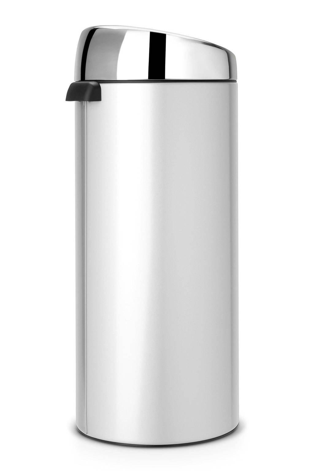 Brabantia 30 Liter Touch Bin.Brabantia Touch Bin 30 Liter Prullenbak Wehkamp