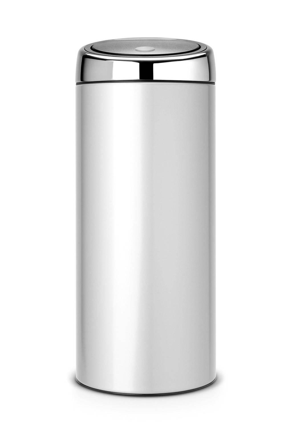 Brabantia Touch Bin 30 Liter Zwart.Brabantia Touch Bin 30 Liter Prullenbak Wehkamp