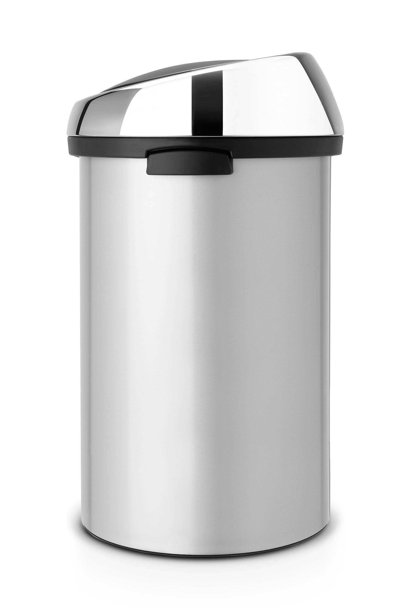Brabantia Afvalemmer Touch Bin 50 Liter.Touch Bin 50 Liter Prullenbak
