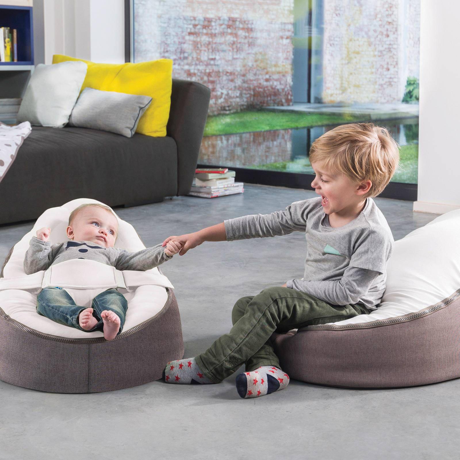 Baby Zitzak Doomoo.Doomoo Seat Home Baby Zitzak Grijs Wit Wehkamp