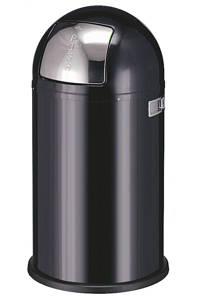 Wesco Pushboy 50 liter prullenbak, Zwart
