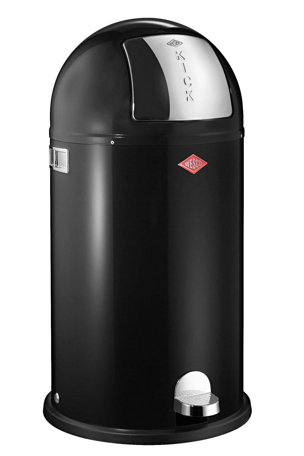 Wesco Kickboy 40 liter pedaalemmer, Zwart