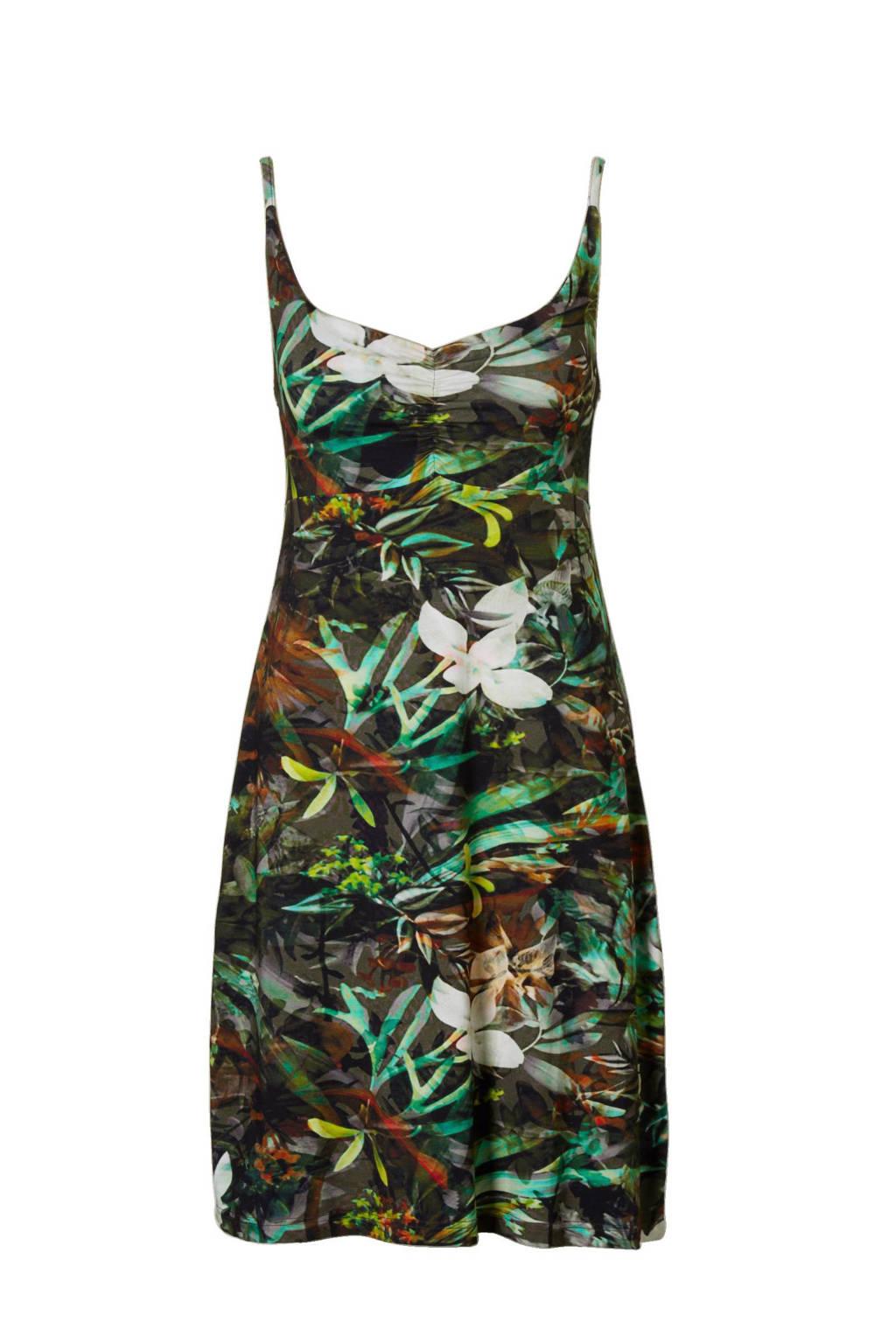 Geisha jurk, Groen/bruin