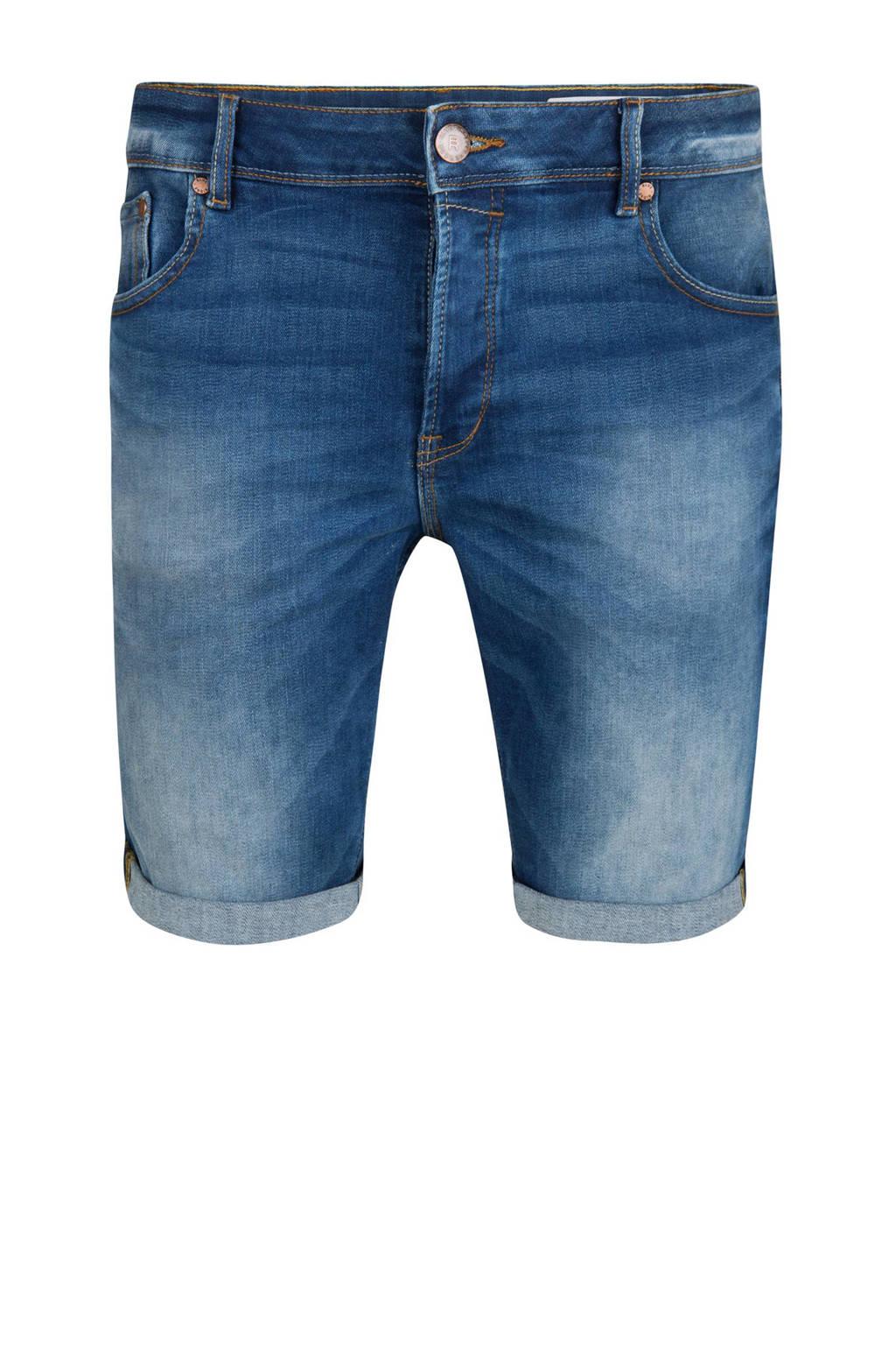 WE Fashion Blue Ridge  regular regular fit jeans short blauw, Blauw