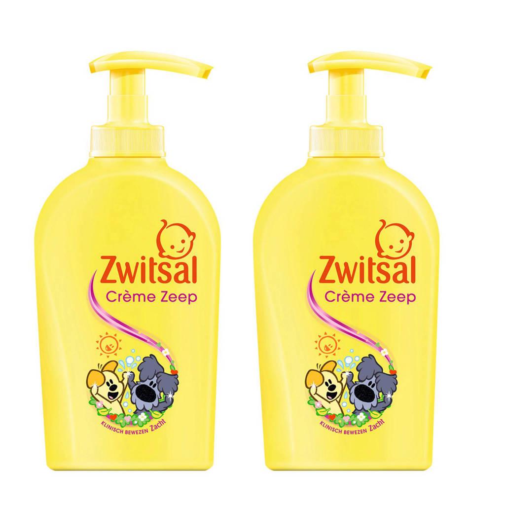 Zwitsal Woezel & Pip crème zeep pomp - 2x250 ml - baby, 2 x 250 ml