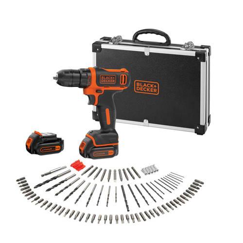 Black+Decker BDCDD12BAFC accuschroef-/boormachine 10,8V + 100 accessoires kopen