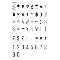 A Little Lovely Company lightbox letterset Nummers & Symbolen