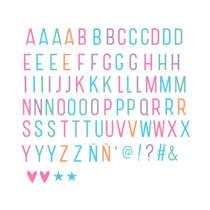 A Little Lovely Company lightbox letterset Pastel