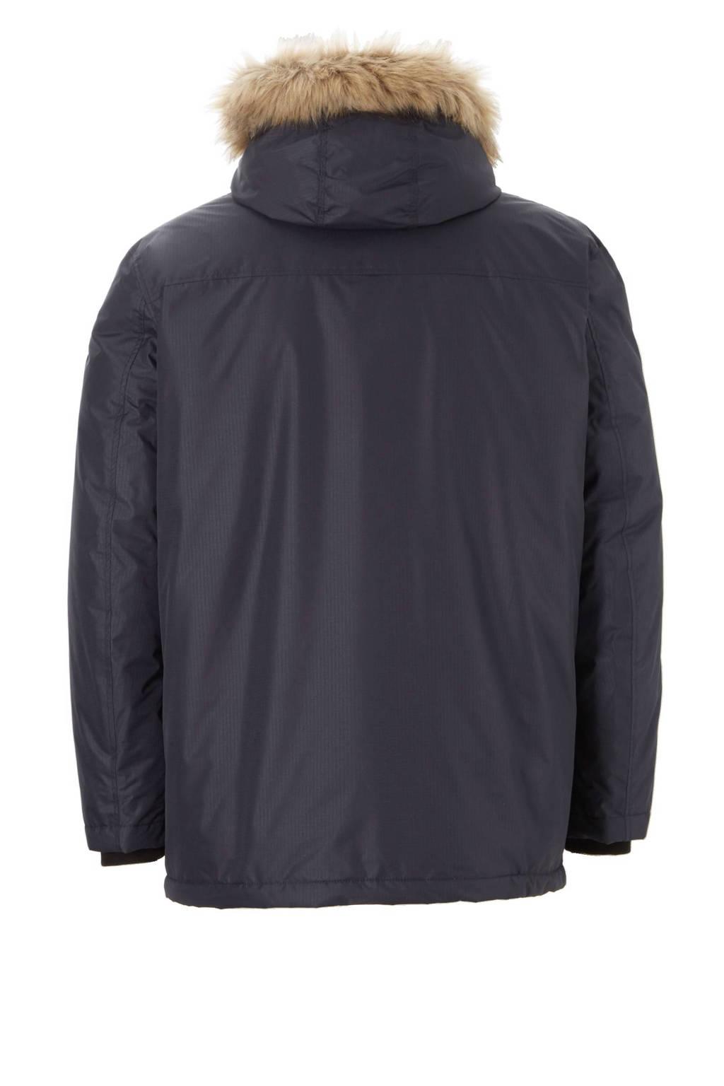 C&A XL Canda winterjas, Grijsblauw