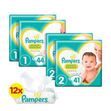 New Baby Premium Protection starterspakket maat 1+2 (2-8 kg) 178 luiers + Sensitive babydoekjes