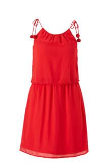 jurk met pompons