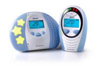 Alecto DBX-88 eco DECT babyfoon met display, Wit/blauw