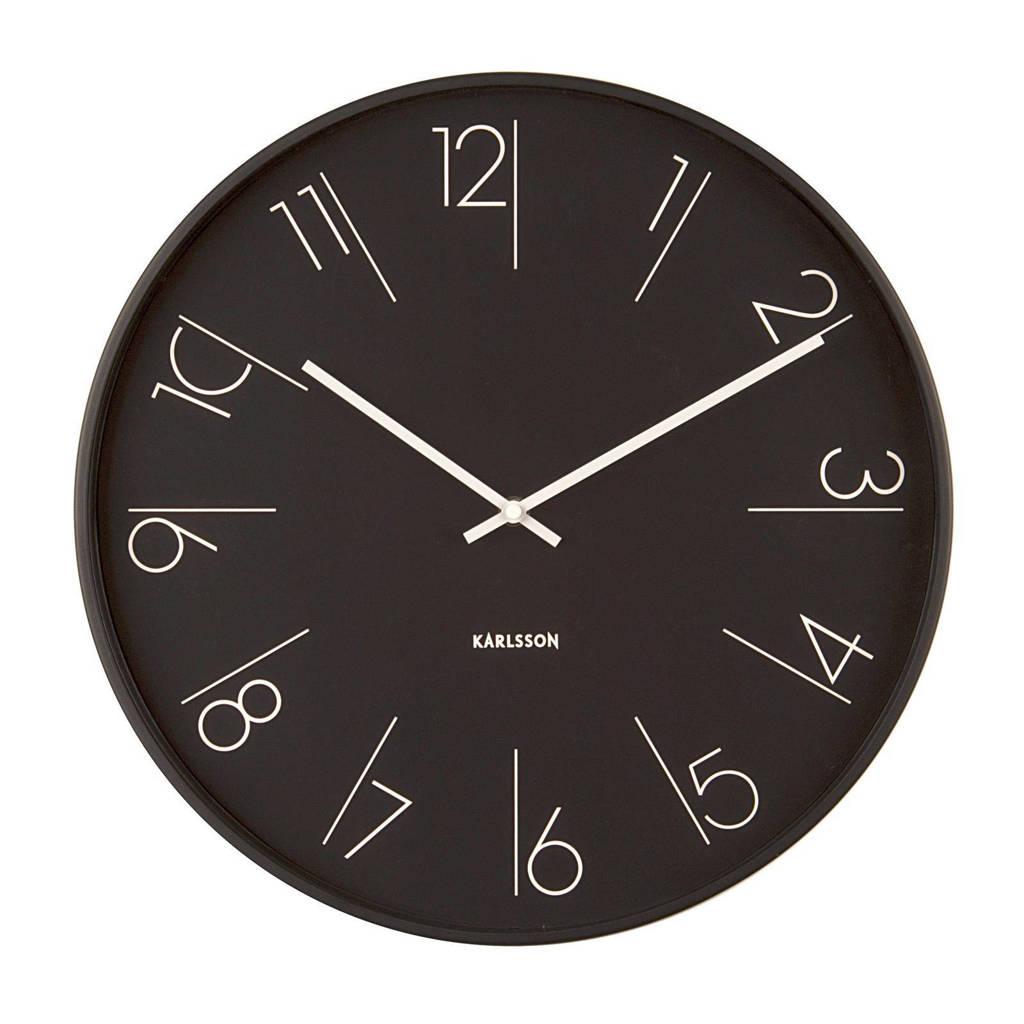 Karlsson Klokken klok Elegant Numbers (Ø40 cm), Zwart, wit