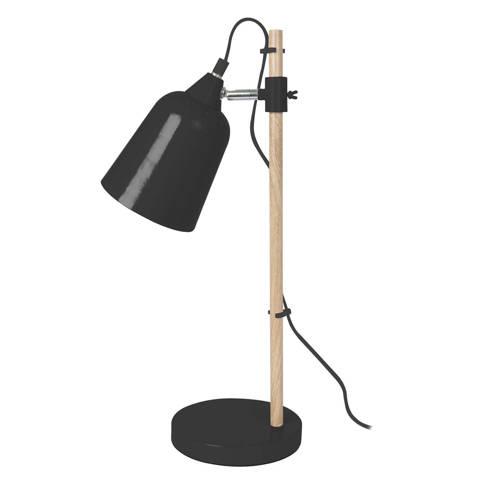 Tafellamp Wood-like Metaal Zwart Leitmotiv